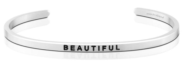 "MantraBand Silver ""Beautiful"" Bracelet"