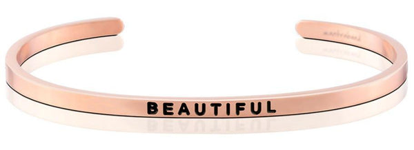 "MantraBand Rose Gold ""Beautiful"" Bracelet"