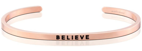 "MantraBand Rose Gold ""Believe"" Bracelet"