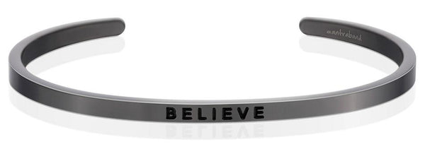 "MantraBand Moon Grey ""Believe"" Bracelet"