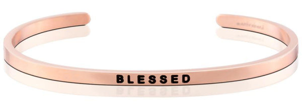 "MantraBand Rose Gold ""Blessed"" Bracelet"