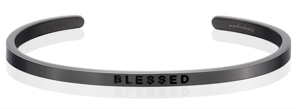 "MantraBand Moon Grey ""Blessed"" Bracelet"