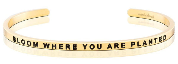"MantraBand Gold ""Bloom Where You Are Planted"" Bracelet"