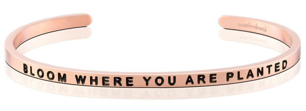 "MantraBand Rose Gold ""Bloom Where You Are Planted"" Bracelet"