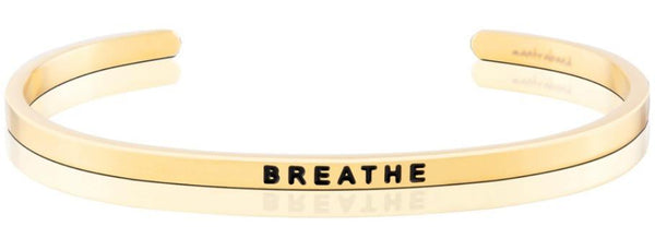 "MantraBand Gold ""Breathe"" Bracelet"