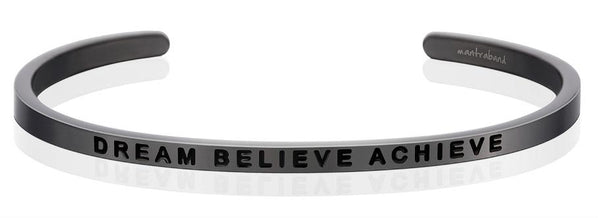 MantraBand Moon Grey Dream Believe Achieve Bracelet