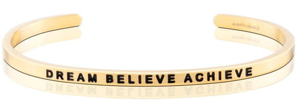 MantraBand Gold Dream Believe Achieve Bracelet
