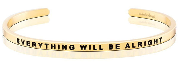 MantraBand Gold Everything will be alright