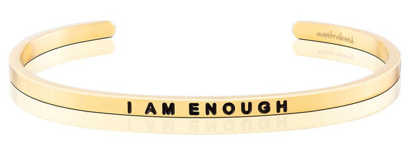 MantraBand Gold I Am Enough