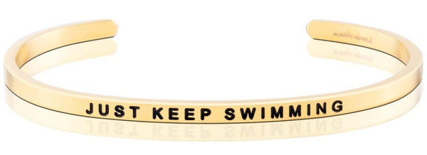 MantraBand Gold Just Keep Swimming