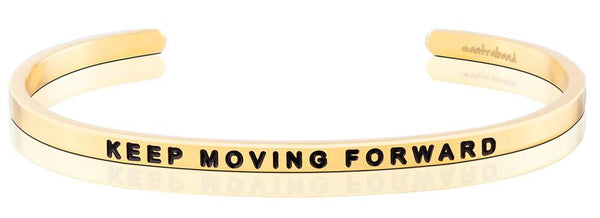 MantraBand Gold Keep Moving Forward