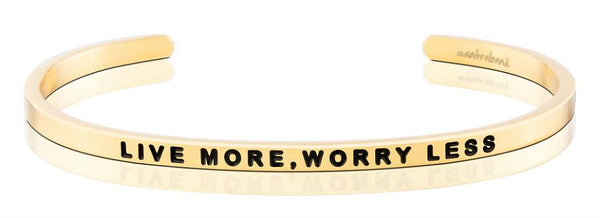 MantraBand Gold Live More Worry Less