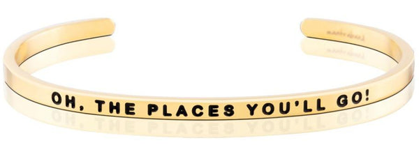 MantraBand Gold Oh The Places You'll Go