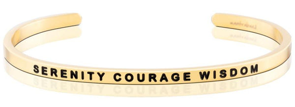 MantraBand Gold Serenity Courage Wisdom