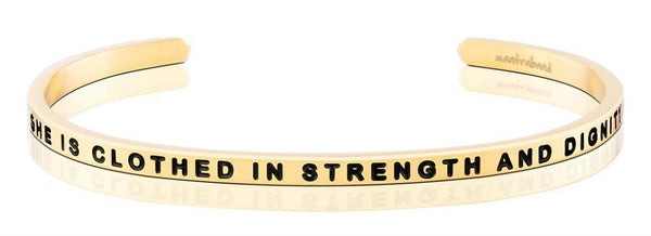 MantraBand Gold She is Clothed in strength and dignity