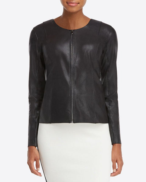 Spanx Faux Leather Jacket Very Black
