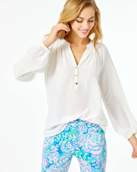 Lilly Pulitzer Elsa Blouse White