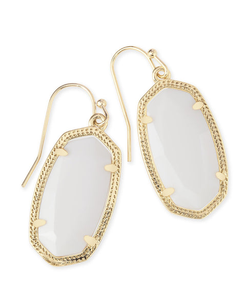 Kendra Scott Dani Earrings in Gold White MOP