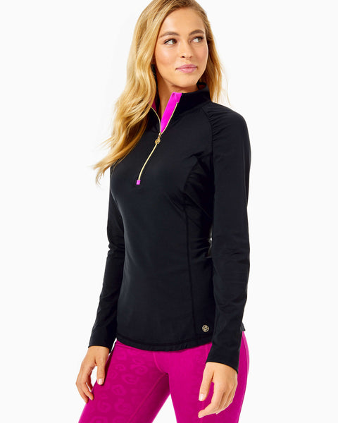 Lilly Pulitzer luxletic Justine pullover onyx