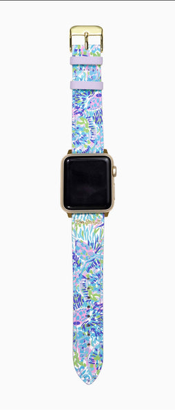 Lilly Apple watchband in Shell of a Party