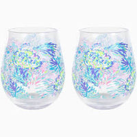 Lilly Acrylic Wine Glass Set of 2