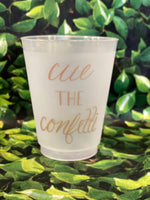 "M&M tumbler set of 8 ""cue the confetti"""