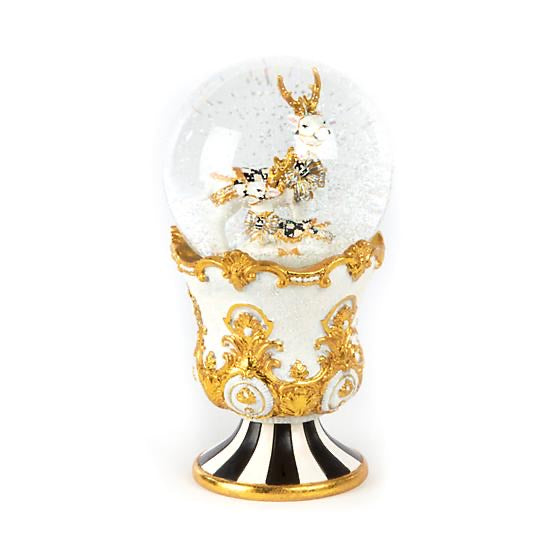 Mackenzie Childs Golden Hour Deer Snow Globe