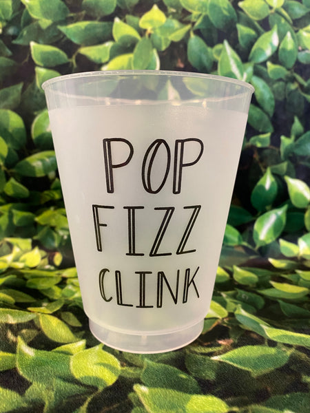 "M&M tumbler set of 8 ""Pop Fizz Clink"""