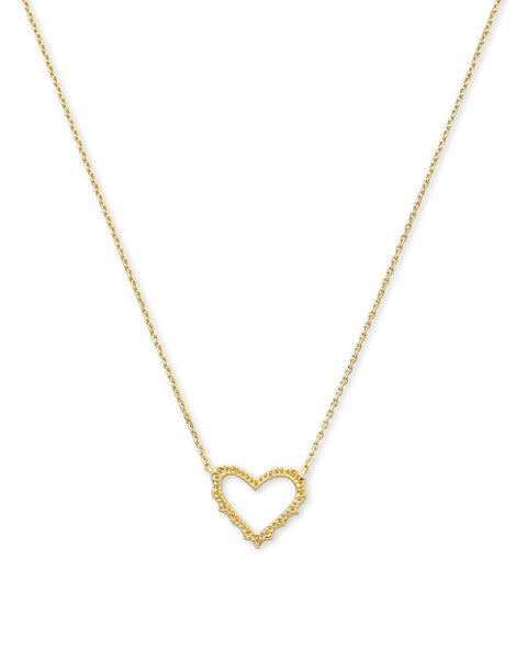 Kendra Scott Sophee Heart Necklace gold
