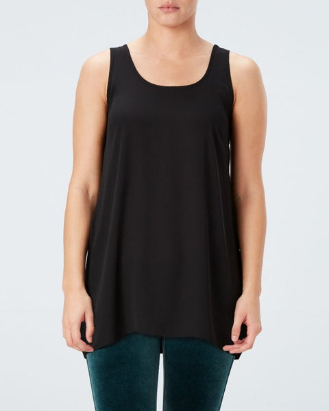 Spanx Perfect Length Top Chiffon Black