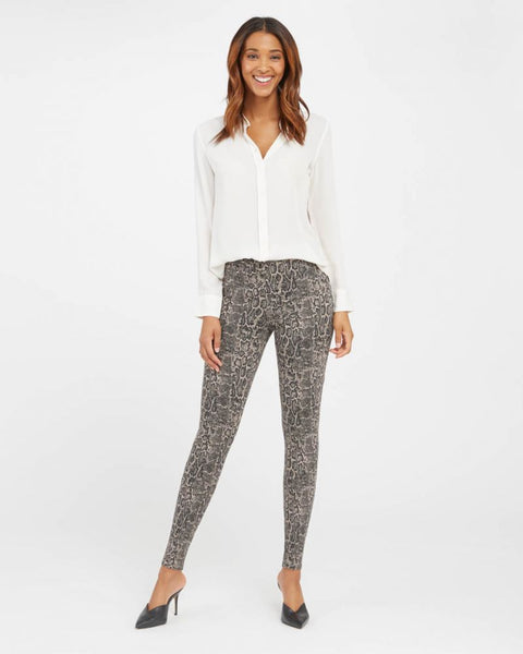 Spanx Ankle Jeanish Legging Taupe Snakeskin