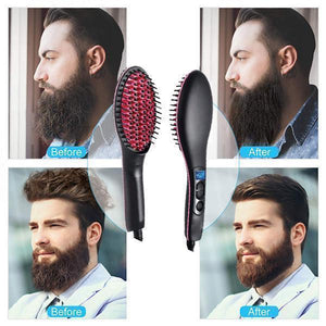30s Fast Heat Hair Straightener Brush