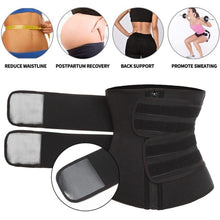 Load image into Gallery viewer, Sauna Waist Trainer Sweat Belt