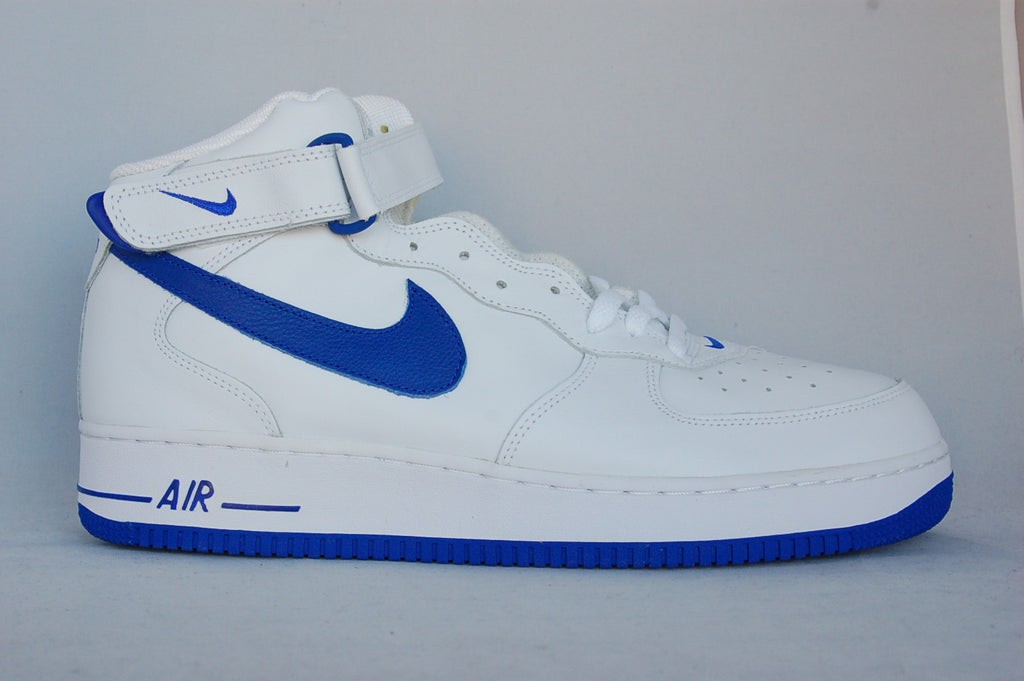 Air Force 1 Mid White/Royal