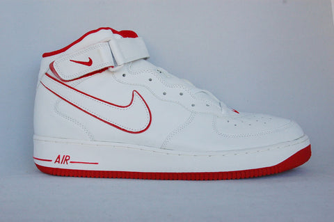 Air Force 1 Mid Red/White