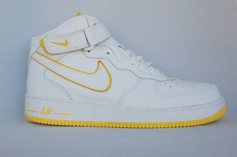 Air Force 1 Mid Yellow/White