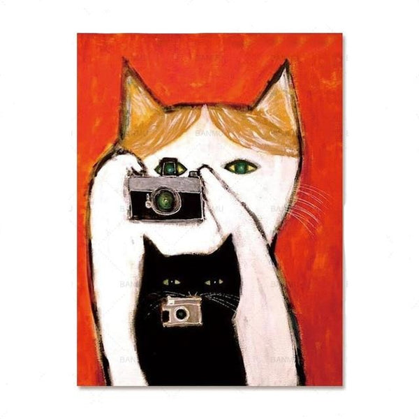 Camera Cats Life Paint by Numbers
