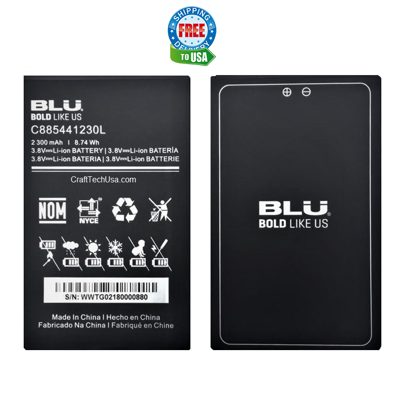 BLU Dash XL D710L D710u Original OEM Li-Ion Battery C885441230L