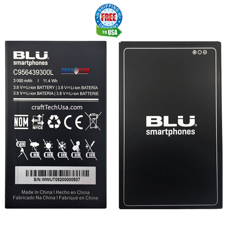 BLU G5 Plus G0190UU, G0190LL, G0190VV Original OEM Battery C956439300L 3000mAh