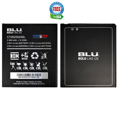 BLU Grand X LTE G0010WW Original OEM Battery C726250240L 2,400 mAh