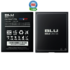 BLU Original OEM Battery  C615047170L 1700 mAh for Dash L4X D0040uu D0050LL