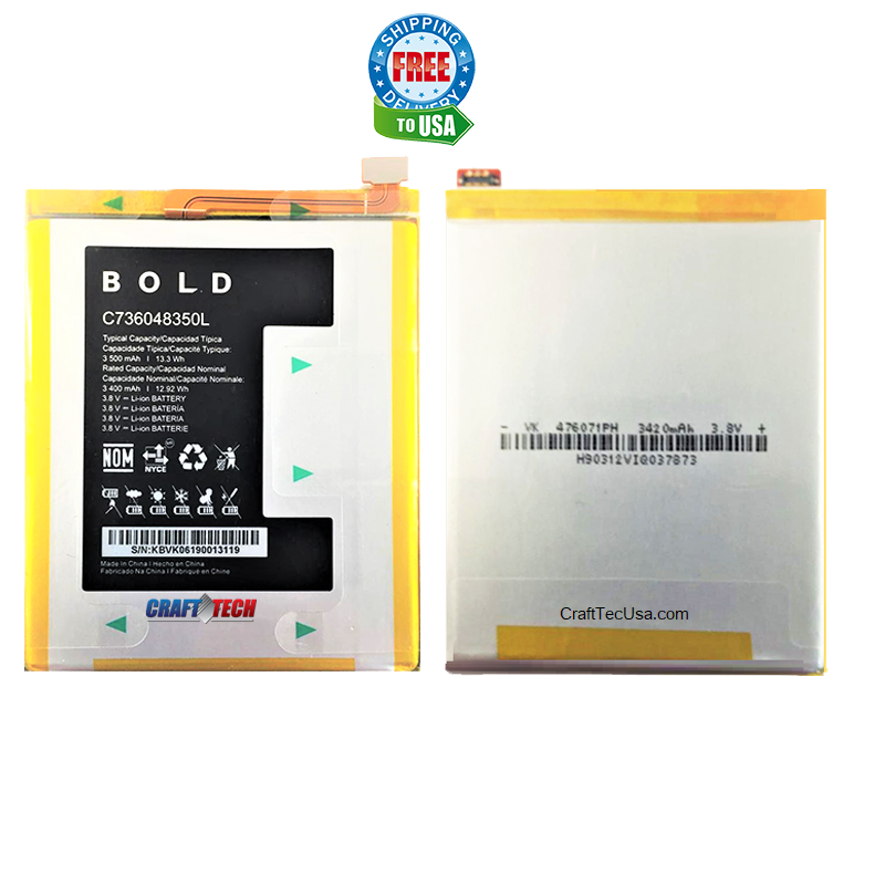 Blu Bold N1 N0030ww Original OEM Battery C736048350L 3,500mAh