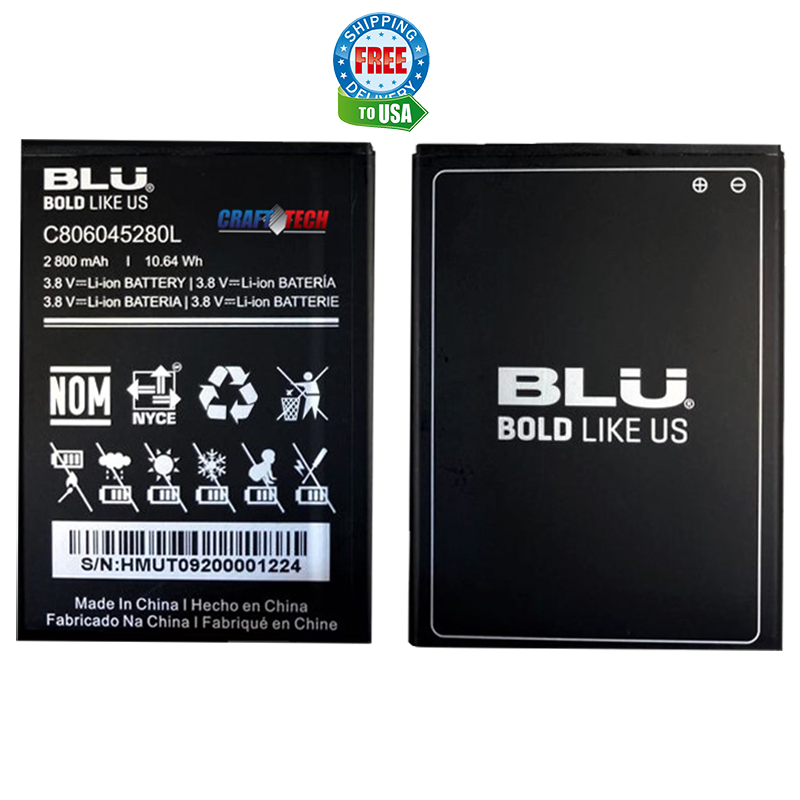"BLU OEM Li-ion Battery C806045280L for BLU Vivo X5 V0490UU 5.7"" HD smartphone"