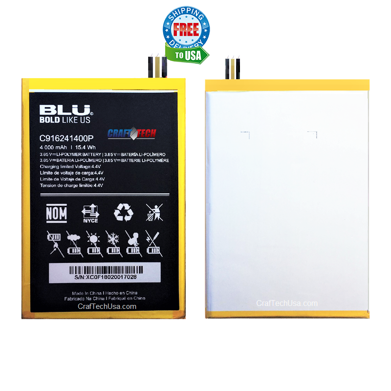 BLU VIVO ONE PLUS V0290WW Original OEM Li-POLYMER Battery C916241400P