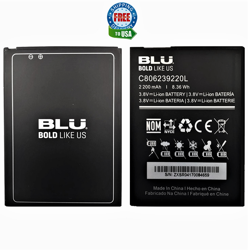 BLU Studio Selfie 3 S630Q Original OEM Li-ion Battery C806239220L 2200mAh Replacement battery
