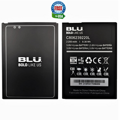 BLU Grand X G090 Original OEM Battery C806239220L 2200 mAh 3.8V