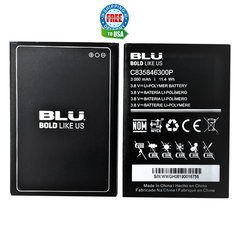 BLU V5 Phone Model V0410UU C835846300P Original OEM Battery C835846300P 3000 mAh