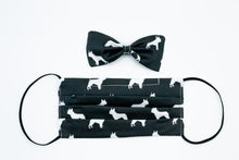 Load image into Gallery viewer, Black French Bulldog Face Mask And Dog Bow Tie