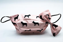 Load image into Gallery viewer, Baby Pink French Bulldog Face Mask And Dog Bow Tie