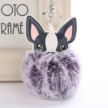 Load image into Gallery viewer, French Bulldog Keychain Pompon